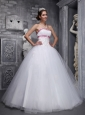 Elegant White Sweet 16 Dress Strapless Taffeta and Tulle Beading and Appliques Ball Gown