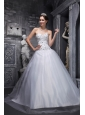 Lovely White Quinceanera Dress Sweetheart Taffeta and Tulle Beading A-Line / Princess