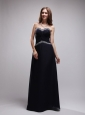Navy Blue Column Sweetheart Floor-length   Chiffon Sequins Bridesmaid Dress