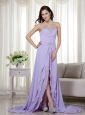 Lilac Column / Sheath Detachable 2 Pieces Prom Dress Chiffon Beading