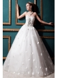 Beautiful Ball Gown Sweetheart Floor-length Tulle Beading and Appliques Wedding Dress