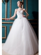 Best Ball Gown Sweetheart Floor-length Tulle Beading Wedding Dress