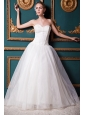 Exquisite A-line Sweetheart Floor\length Organza and Taffeta Wedding Dress