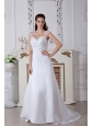 Discount A-line / Princess Straps Ruch Wedding Dress Court Train Satin