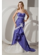 Purple and White Mermaid Prom Dress Sweetheart with Appliques