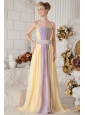 Colorful Prom Dress Empire Strapless Chiffon Ruch