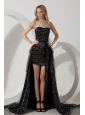 Black Detachable High-low Sashes Prom / Evening Dress Special Fabric