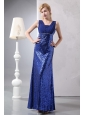 Beautiful Blue Prom Dress Column Straps Ankle-length Sequin Sequins