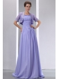 Sweet Lilac A-line Spaghetti Straps Ruch Mother Of The Bride Dress Brush Chiffon
