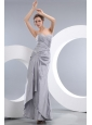 Sexy Silver Column Sweetheart Beading Mother Of The Bride Dress Floor-length Taffeta