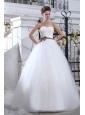 Lovely Ball Gown Sweetheart Sash Wedding Dress Court Train Tulle
