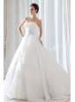 Low Price Princess Sweetheart  Beading and Ruch Wedding Dress Floor-length Lace