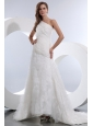 Popular Wedding Dress A-line Ruch One Shoulder Court Train Taffeta and Organza