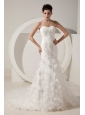 Special Mermaid Sweetheart Beading Wedding Dress Court Train Organza