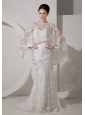 Romantic Mermaid Sweetheart Muslim Wedding Dress Court Train Lace