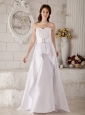 The Brand New Wedding Dress A-line / Princess Sweetheart Belt Brush Train Satin