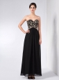 Custom Made Black Column Mother Of The Bride Dress Sweetheart Ankle-length Chiffon Beading