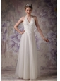 Customize Column Halter Wedding Dress Tulle Beading Floor-length