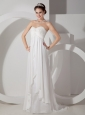 Popular Maternity Wedding Dress Empire Sweetheart Chiffon Appliques and Ruch  Brush Train