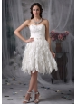 Sweet Empire Sweetheart Short Wedding Dress Lace Beading Knee-length