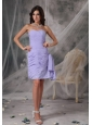 Beautiful Lilac Column Sweetheart Homecoming Dress Chiffon Beading Mini-length