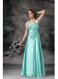 Customize One Shoulder Prom Dress with Beading