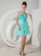 Ice Blue Short Prom Homecoming Dress Mini-length