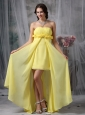 Lovely Yellow Column / Sheath High-low Prom Dress