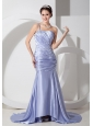 Customize Lilac Prom Dress Column One Shoulder