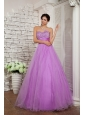 2013 Lavender Prom Dress A-line Sweetheart Organza Beading Floor-length