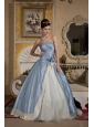 Beautiful Light Blue And Light Yellow Ball Gown Quinceanera Dress Sweetheart Floor-length Taffeta and Organza Beading
