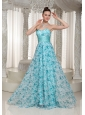 2013 Empire Printing Prom Dress For Formal With Sweetheart Floor-length
