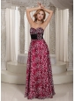 2013 Multi-color Empire Sweetheart Hand Made Flower Floor-length Prom Dress Party Style