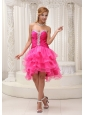 Lovely 2013 Prom / Cocktail Dress For Formal Evening Beaded Decorate Sweetheart Neckline Ruched Bodice