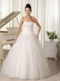 Ball Gown Wedding Dress With Sweetheart Floor-length For Church