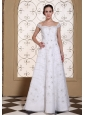 Off The Shoulder Elegant Empire Beach Wedding Dress For 2013 Embroidery With Beading Over Skirt