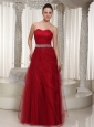 Beaded Embellishment Floor-length Tulle Sweetheart Homecoming Dress For Wear