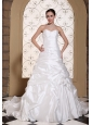 Elegant Wedding Dress For 2013 Ruched Bodice and Pick-ups Chapel Train