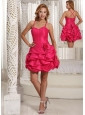 Hand Made Flower Cute Spaghetti Straps and Pick-ups Homecoming Dress For 2013