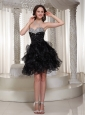 Sweetheart Black Beaded Bodice Sexy Prom / Cocktail Dress Party Wear