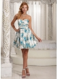 Luxurious Printing Colorful A-line Sweetheart Prom / Cocktail Dress For Graduation Party