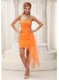 Ruched Bodice Beaded Decorate Sweetheart Neckline Orange Pretty Prom / Cocktail Dress For 2013