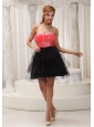 Rust Red and Black Lovely Homecoming / Cocktail Dress For 2013 Beaded Decorate Sweetheart Neckline Mini-length