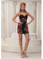 Sexy Printing 2013 Prom / Cocktail Dress For Formal Evening Sequins Mini-length Sweetheart Neckline