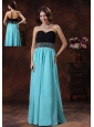 2013 New Style In Bisbee Arizona Prom Dress With Aqua Blue Sweetheart Beaded Decorate Waist