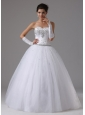 Ball Gown Beaded Decorate Bust Sweetheart  In Antioch California For Modest Wedding Dress
