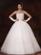 Ball Gown Sweetheart Beaded Organza Custom Made Floor-length Wedding Dress For 2013