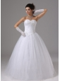 Ball Gown Wedding Dress With Appliques and Ruch Sweetheart Tulle In Aliso Viejo California