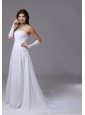 Chiffon Cheap Maternity Wedding Dress With Strapless Chapel Train In Castro Valley California