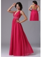 Coral Red Halter For 2013 Prom Dress In Brentwood California With Beaded Decorate Waist